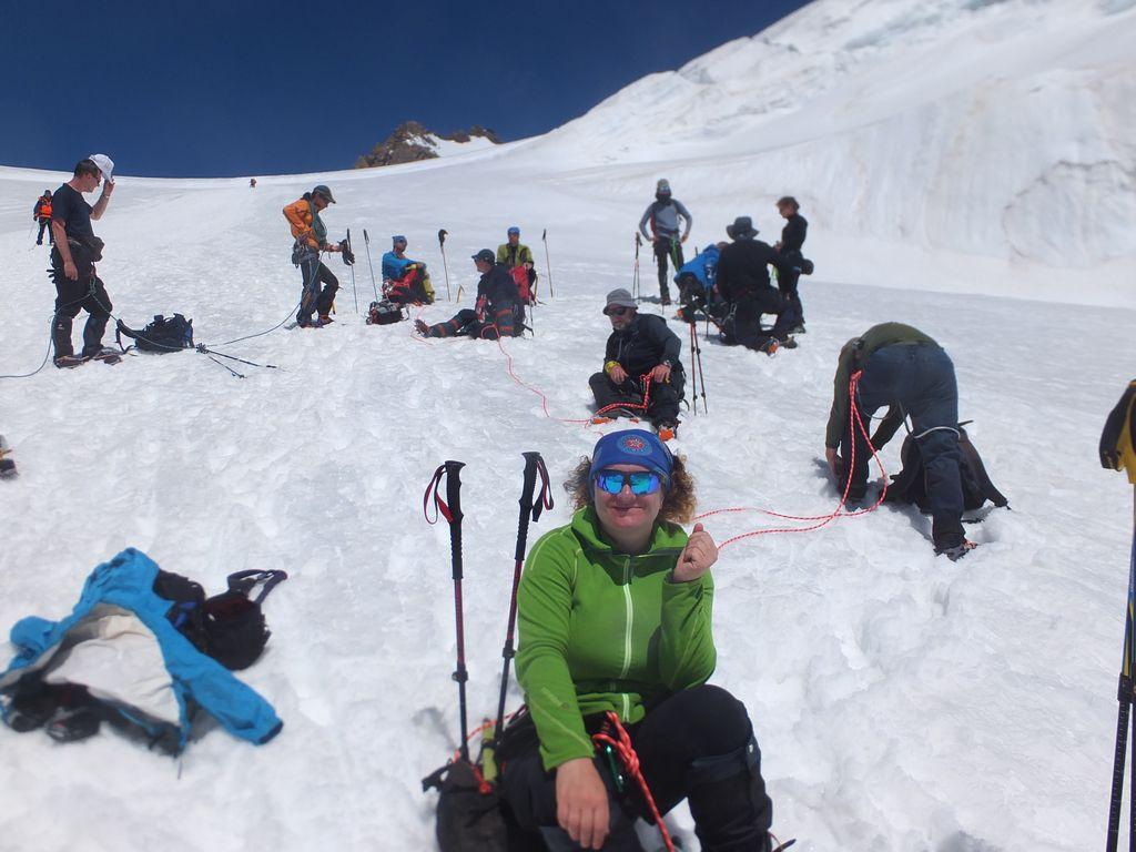 Trekking wokół Matterhorn i Monte Rosa, lodowiec Lys