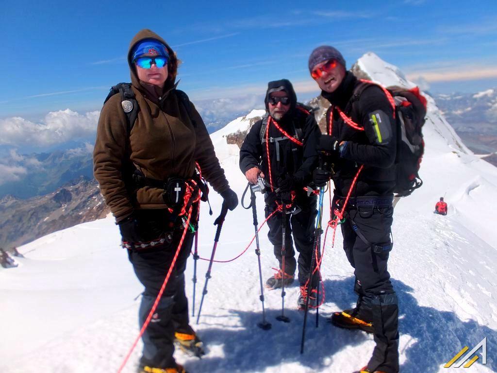 Trekking w Alpach, Ludwigshohe w Masywie Monte Rosa.