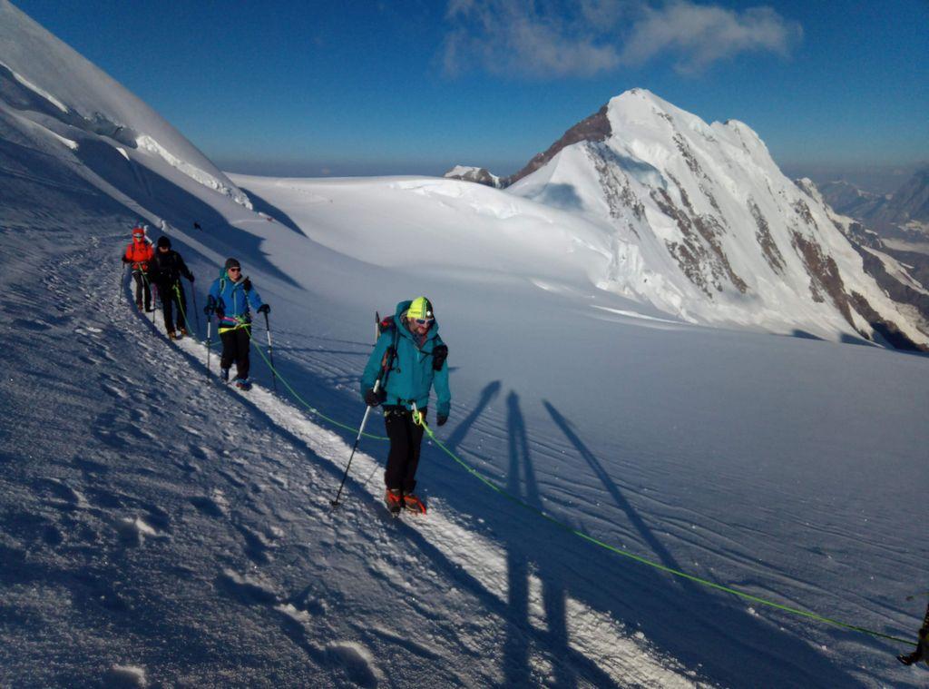 Trekking w Alpach. Wejście na Punta Gnifetti, Monte Rosa.