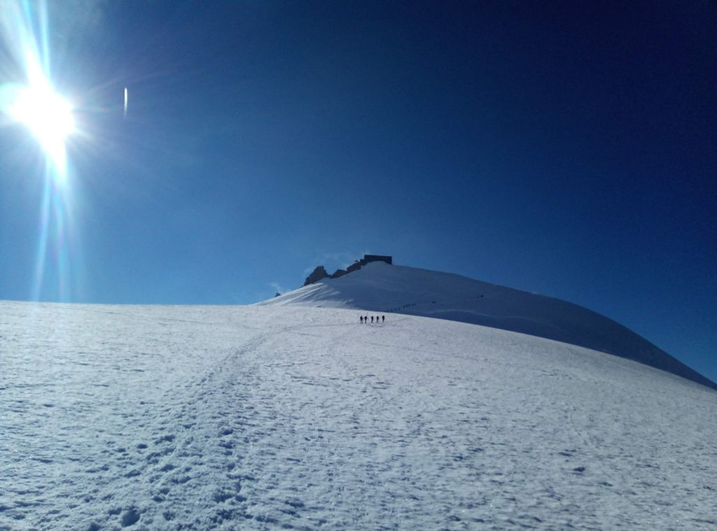 Alpy, trekking wokół Matterhorn i Monte Rosa, Lodowiec Grenz