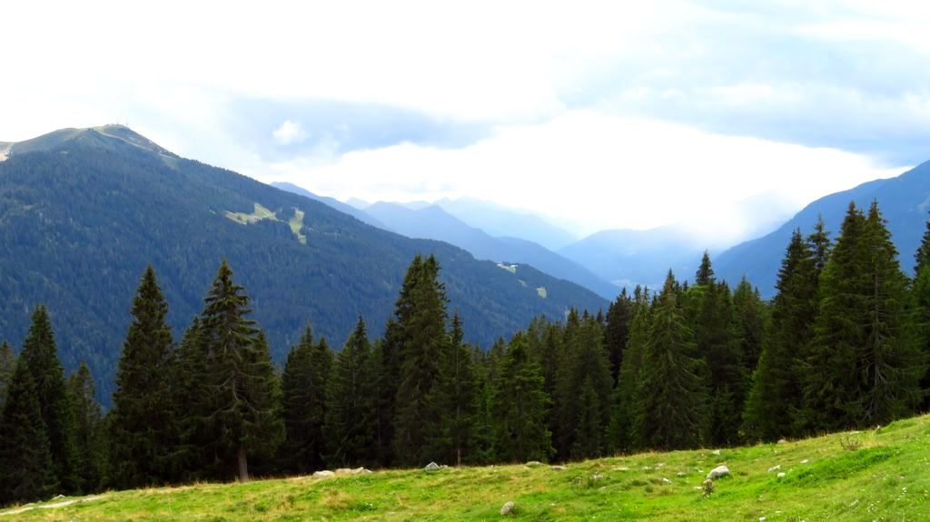 Trekking w Alpach, Grupa Dolomity Brenta i Adamello. Widok z Malga Ritort na Val Rendena