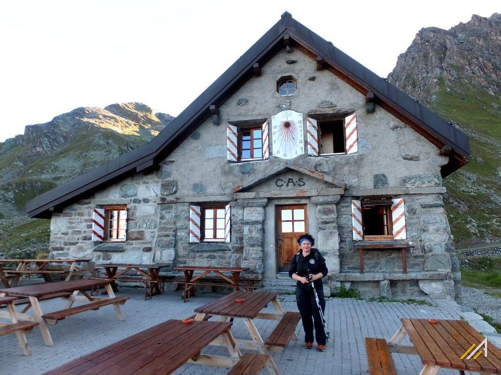 Trekking Haute Route, Cabane Mont Fort na szlaku z Verbier do Lac Louvie