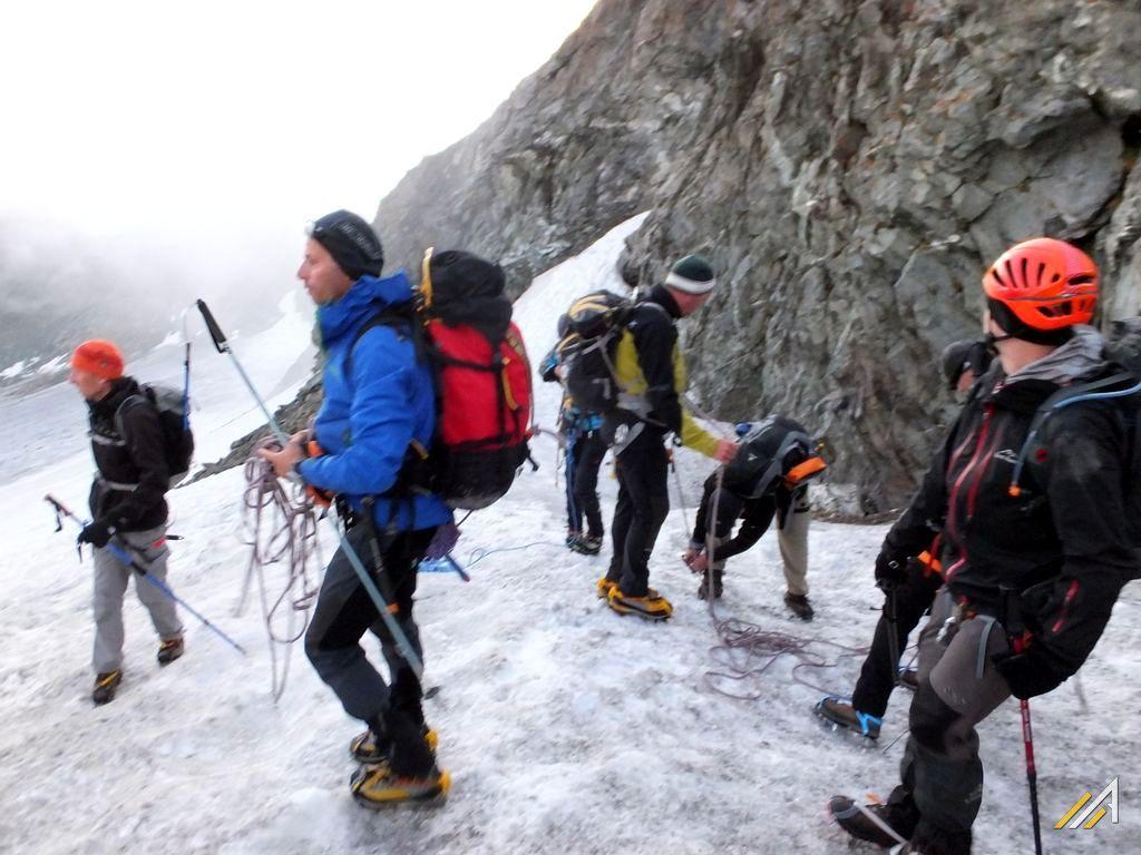 Trekking Haute Route,  Col des Vignettes, pomiędzy Pigne d'Arolla a Mont Collon