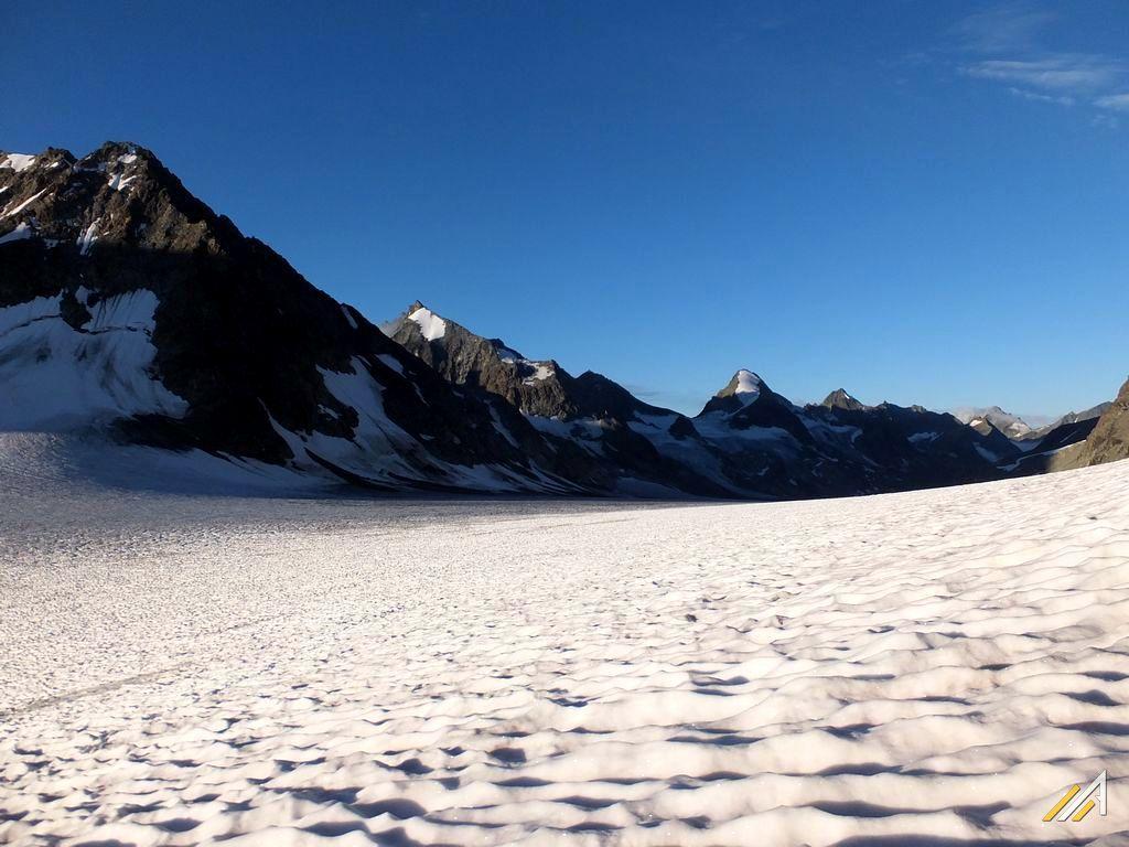 Trekking Haute Route, lodowiec Glacier d'Otemma pod Col des Vignettes
