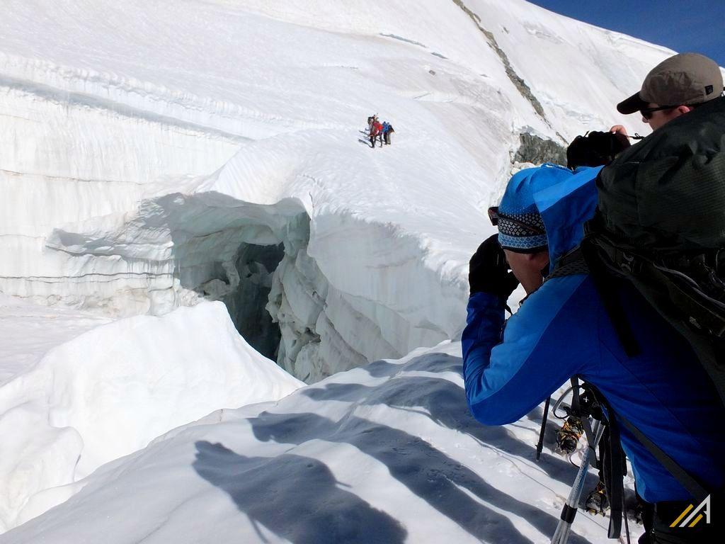 Trekking Haute Route, lodowiec Stockjigletscher