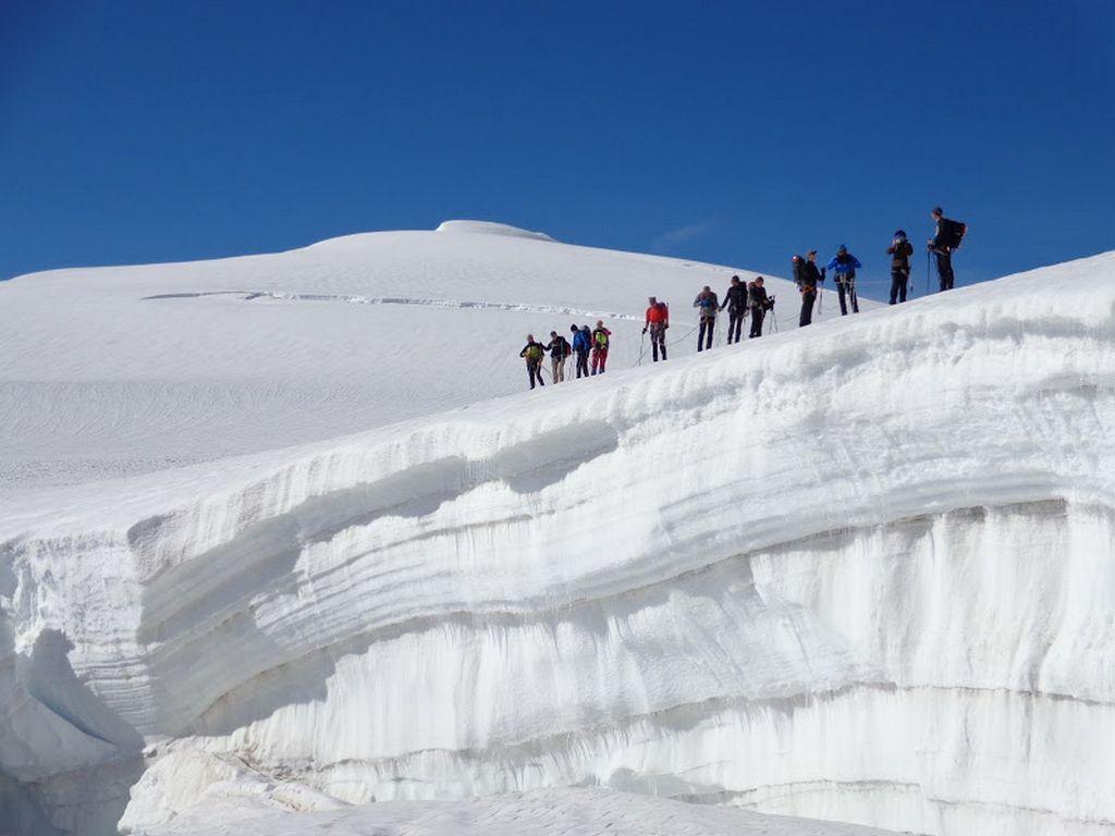 Alpy Walijskie, Szwajcaria. Haute Route, lodowiec Stockjigletscher