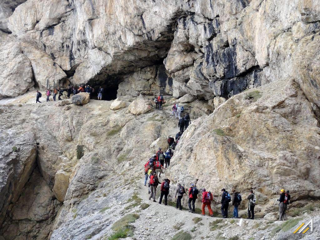 Dolomity, trekking, wejście na Lagazuoi