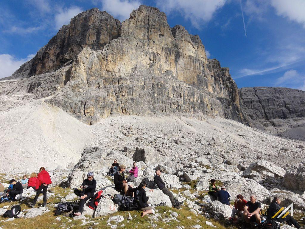 Dolomity, trekkingi. Odpoczynek w rejonie Lagazuoi, grupa Tofany