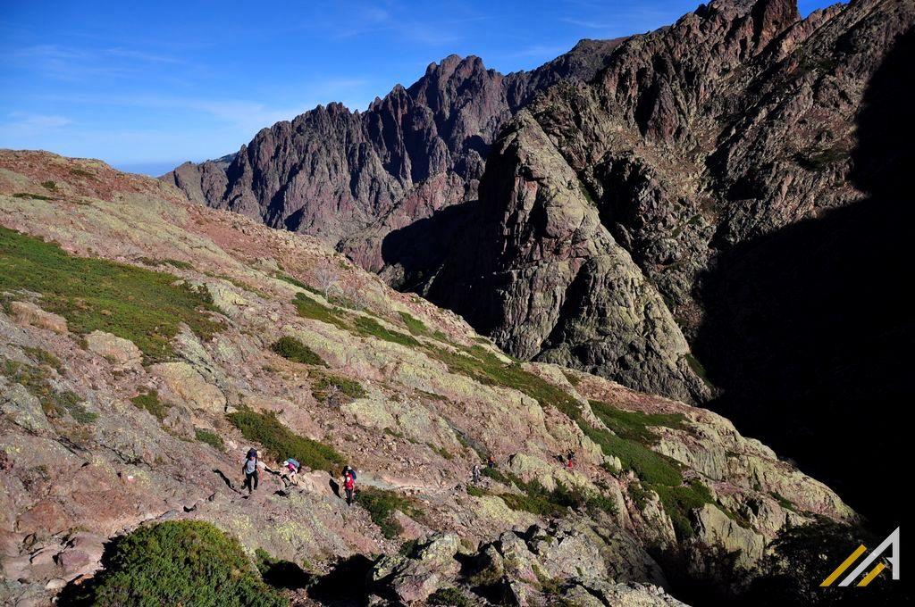 Korsyka, szlak GR20, trekking. Trekking z Carozzu na Bocca di Muvrella