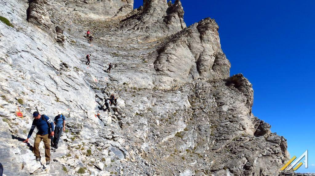 Trekking w górach Grecji, wejście na Mitikas, najwyższy szczyt Olimpu