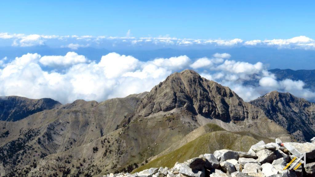Urlop w Grecji. Góry Taygetos, widok z Profitis Ilias