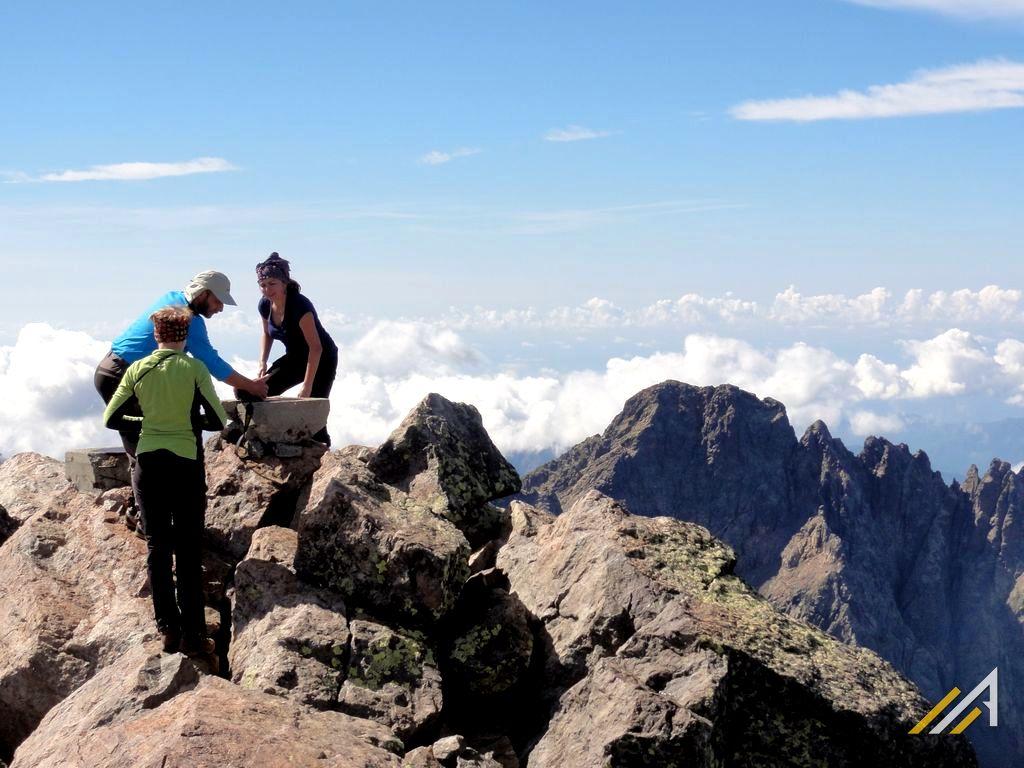 Trekking na Korsyce,szlak GR20, szczyt Monte Cinto (2706 m n.p.m.)